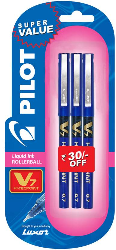 Pilot V7 (Pack of 3) Fineliner Pen