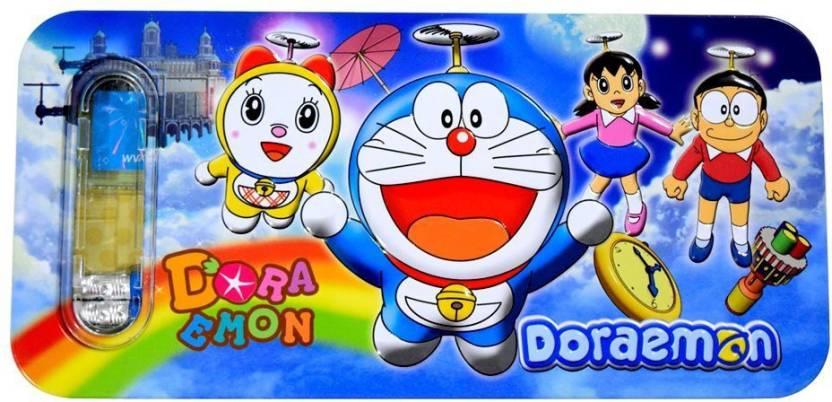 Disney Doraemon Doraemon Art Metal Pencil Box (Set of 1, Blue)