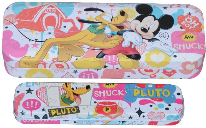 Disney Mickey Character Face Art Metal Pencil Box