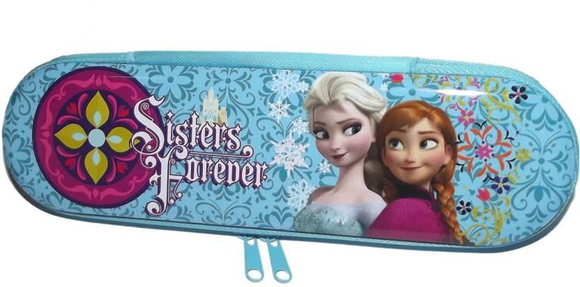 c06abccf6 Disney Disney Princess Elsa & Anna Picture Art Polyster Pencil Box (Set of  1, Multicolor)
