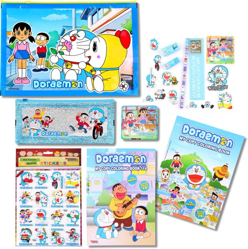 Sticker Bazaar Doraemon Stationery (Gifts) Set Combo-328 Pencil (Multicolor)