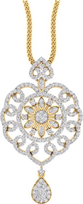 4a18cd11796134 Pooja & Sonam Rhodium Cubic Zirconia Silver Pendant Price in India ...