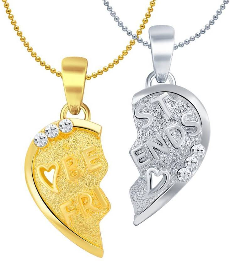 Sukkhi best friends lovely 2 in 1 valentine broken heart gold plated sukkhi best friends lovely 2 in 1 valentine broken heart gold plated rhodium alloy aloadofball Choice Image