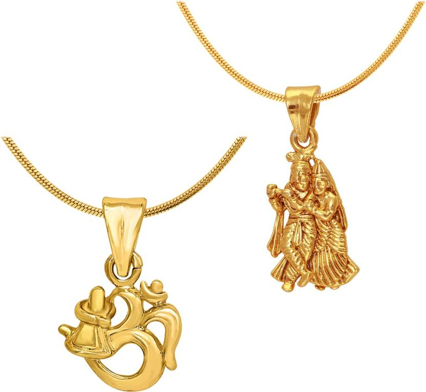 Mahi radha krishna shiva 24k yellow gold alloy pendant price in mahi radha krishna shiva 24k yellow gold alloy pendant aloadofball Image collections