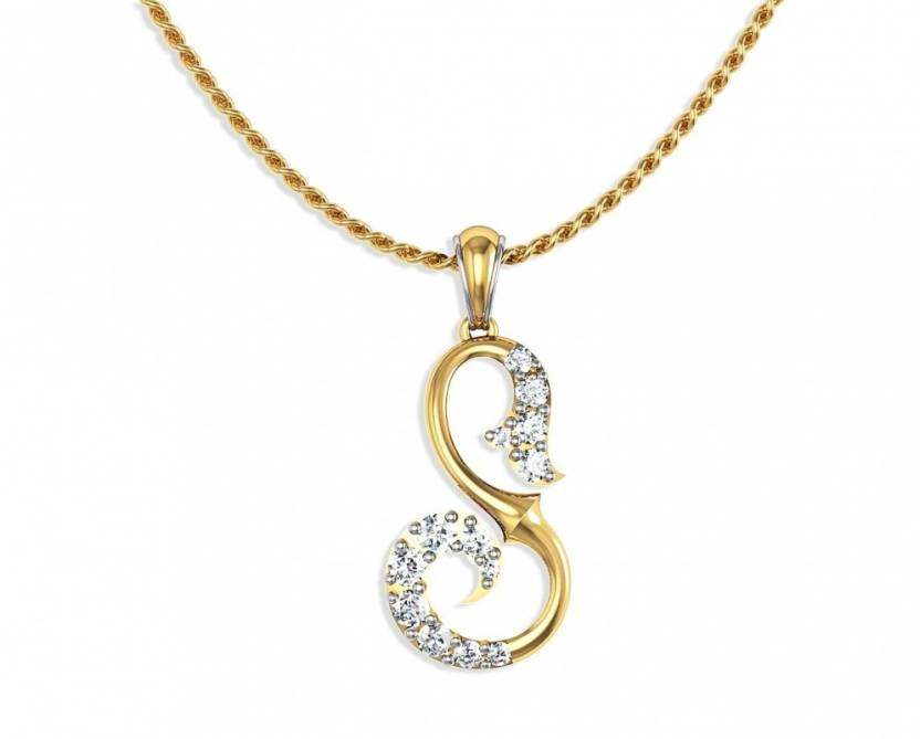 Aamanat Fancy S Letter Rhodium Sterling Silver Pendant Price In