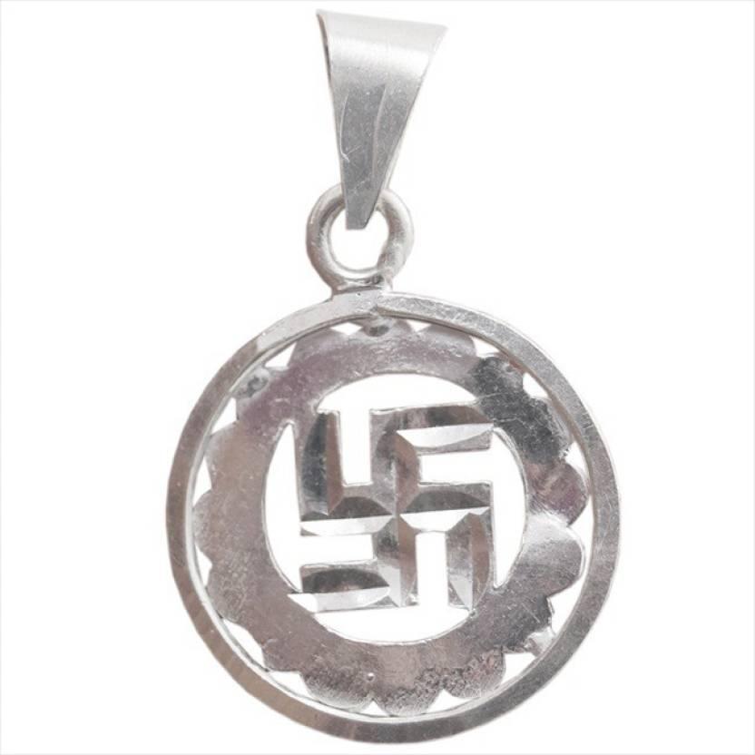 Star Silver Swastik Symbol 925 Silver Pendant Price In India Buy