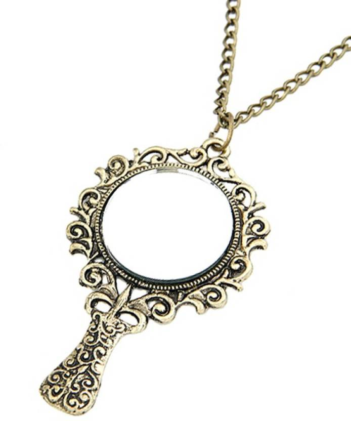 Young   Forever Vintage Mirror Fairy Long Chain Bronze Alloy b32194538