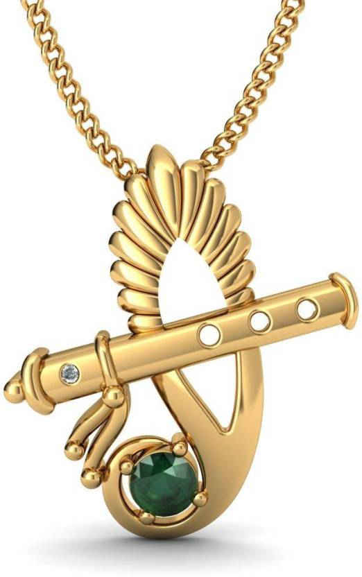 pendant and diamond damaru buy bluestone online dp gold at yellow
