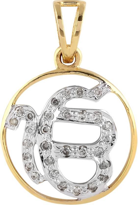 Royal diamond jewellery ik onkar gold plated diamond metal pendant royal diamond jewellery ik onkar gold plated diamond metal pendant aloadofball Images