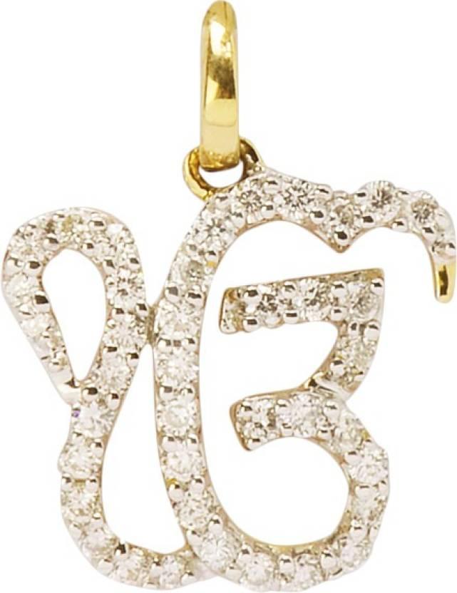 Sriniwas diamonds ek onkar yellow gold diamond gold pendant price in sriniwas diamonds ek onkar yellow gold diamond gold pendant aloadofball Images