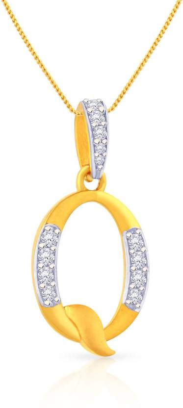 Malabar Gold and Diamonds PDEMALYA0017 22kt Cubic Zirconia Yellow Gold Pendant