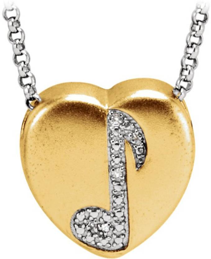 Love Bright Jewelry Music Note Gold-plated Metal, Sterling Silver