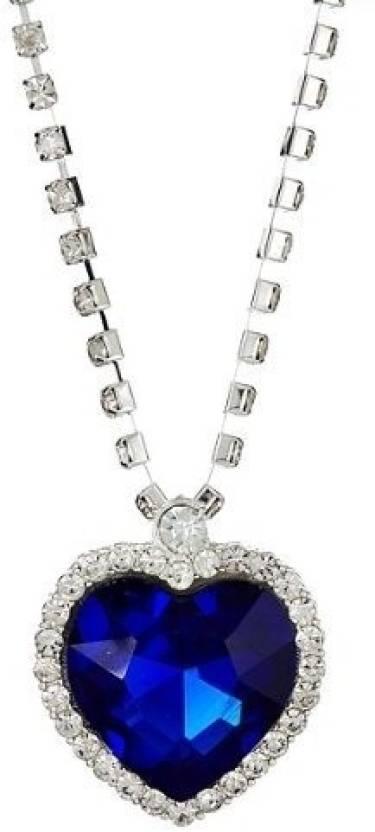 Girlz titanic blue heart alloy pendant price in india buy girlz titanic blue heart alloy pendant aloadofball Image collections