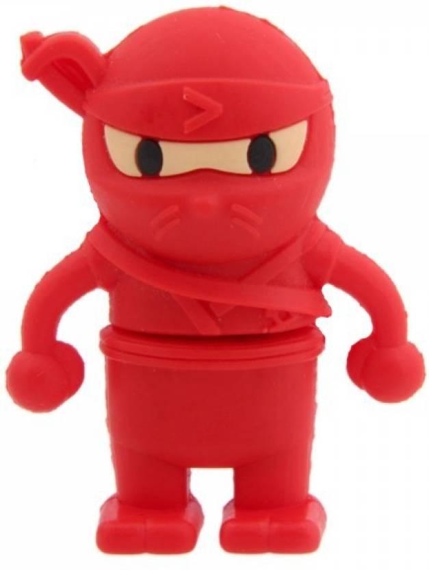 Microware Red Ninja 8 GB Pen Drive