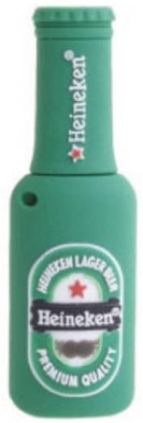 Microware Heineken Bottle Shape Designer Pen Drive 8 GB