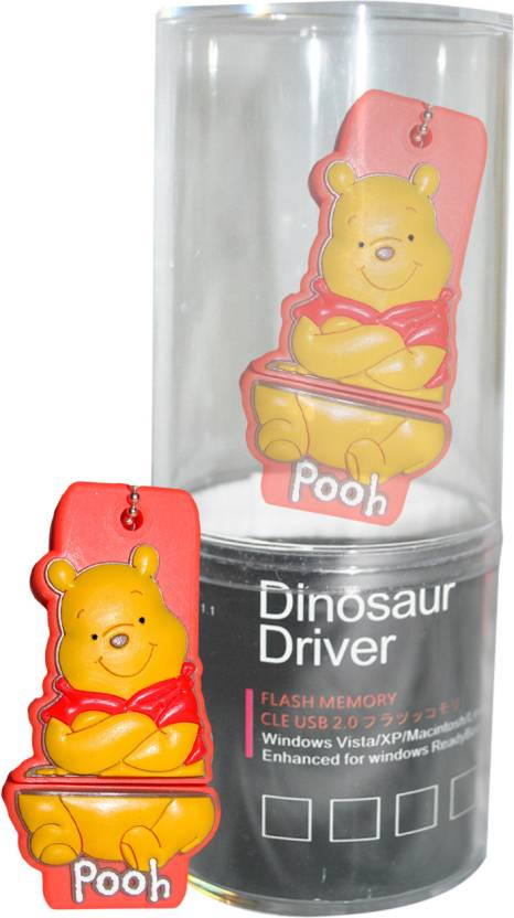 Dinosaur Drivers Pooh Yellow 16 GB Pen Drive