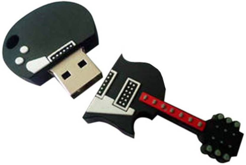 Smiledrive Guitar Shape 8 GB Pen Drive (Grey & Red)
