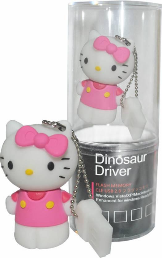 Dinosaur Drivers Kitty 16 GB  Pen Drive (Pink)
