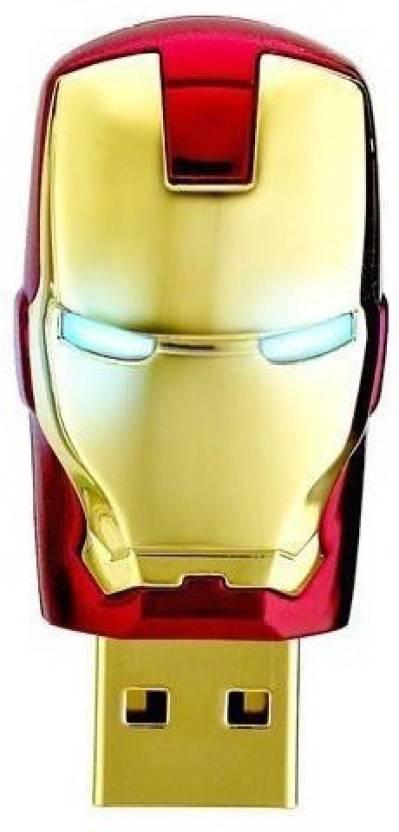 Quace Iron Man Red 32 GB  Pen Drive (Multicolor)