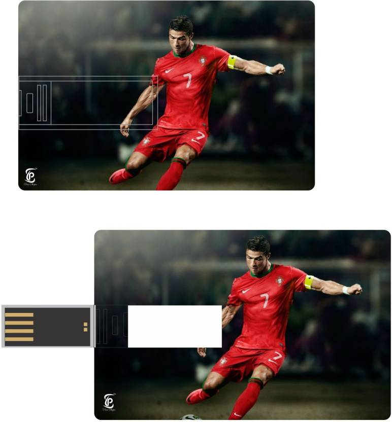 best service 4b57b 7ddf0 Print Shapes Cristiano Ronaldo in Red jersey Credit Card ...
