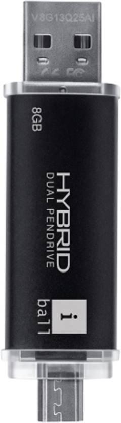 iBall Hybrid 16 GB Utility Pendrive (Black)