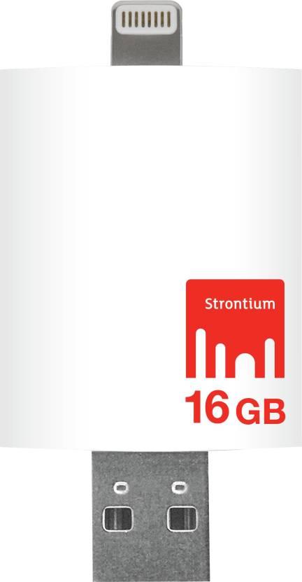 Strontium Nitro iDrive 3.0 OTG Pendrive for iOS 16 GB Utility Pendrive