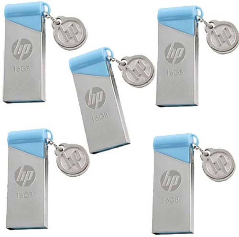 HP v215b Pack of 5 16 GB Pen Drive