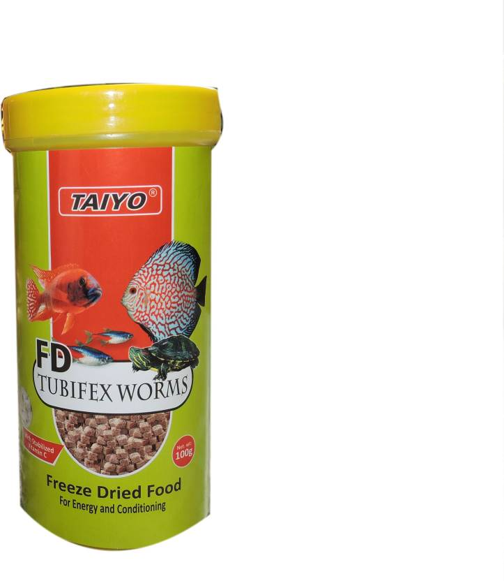Taiyo Tubifex Worms 100gms 100 g Dry Fish Food Price in India - Buy