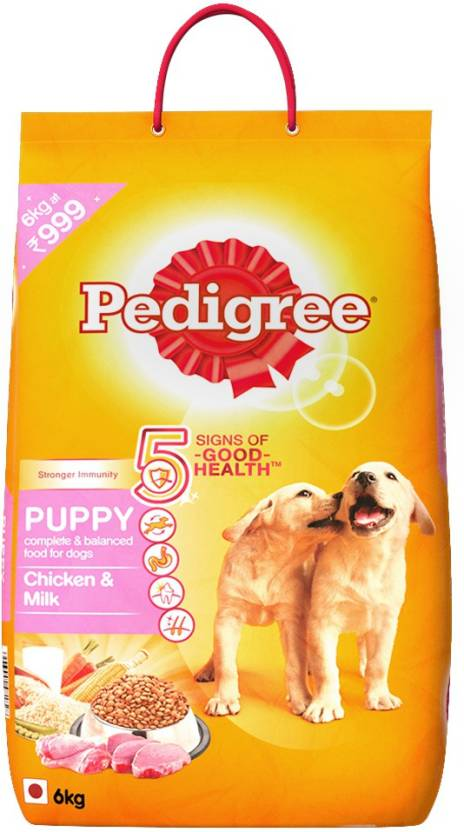 Pedigree Puppy Chicken, Milk Dog Food  (6 kg Pack of 1) By Flipkart @ Rs.919