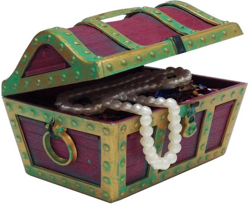 penn plax aquarium ornament treasure chest action air jewel box