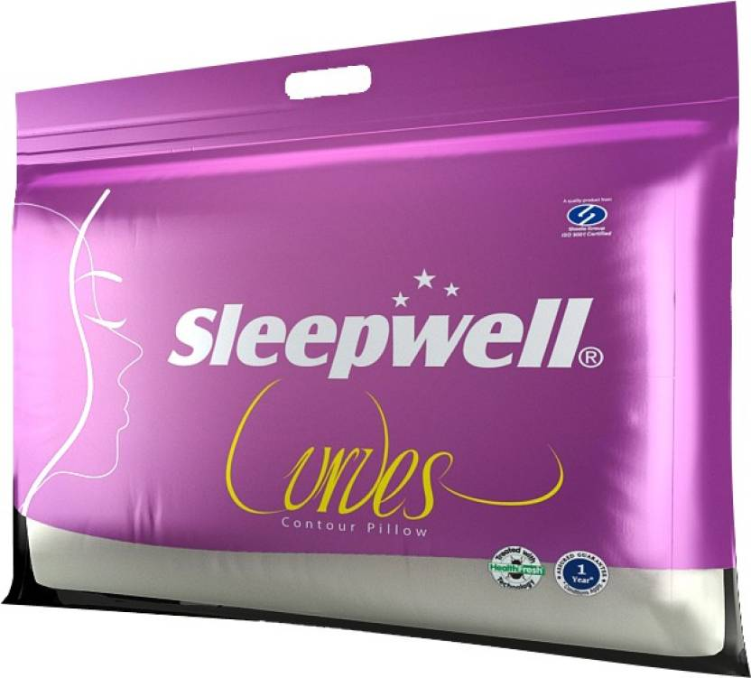 Sleepwell Solid Bed/Sleeping Pillow Pack of 1