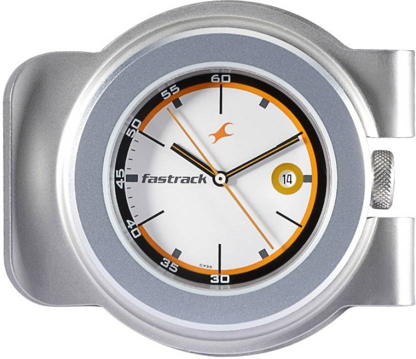 Fastrack Watch For Men 3038AM01 Silver Plated Metal Pocket Watch Chain