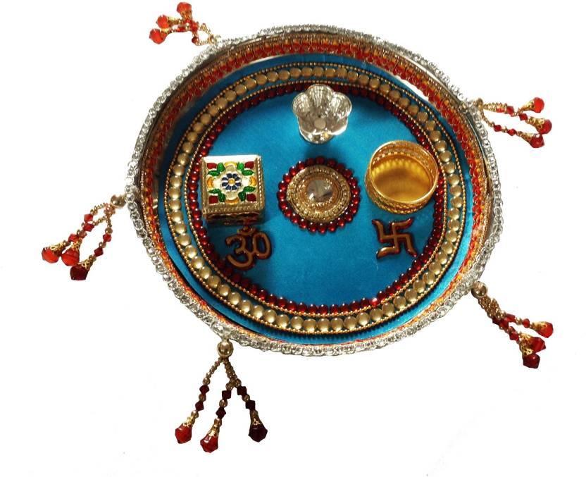 Unique Arts Stainless Steel Pooja & Thali Set  (Multicolor)- 45% OFF