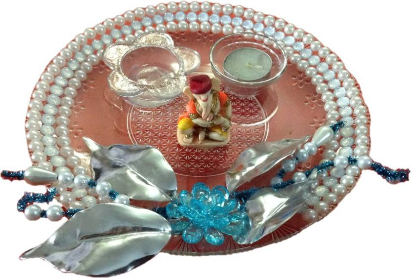Unique Arts Glass Pooja & Thali Set  (Multicolor)-40% OFF