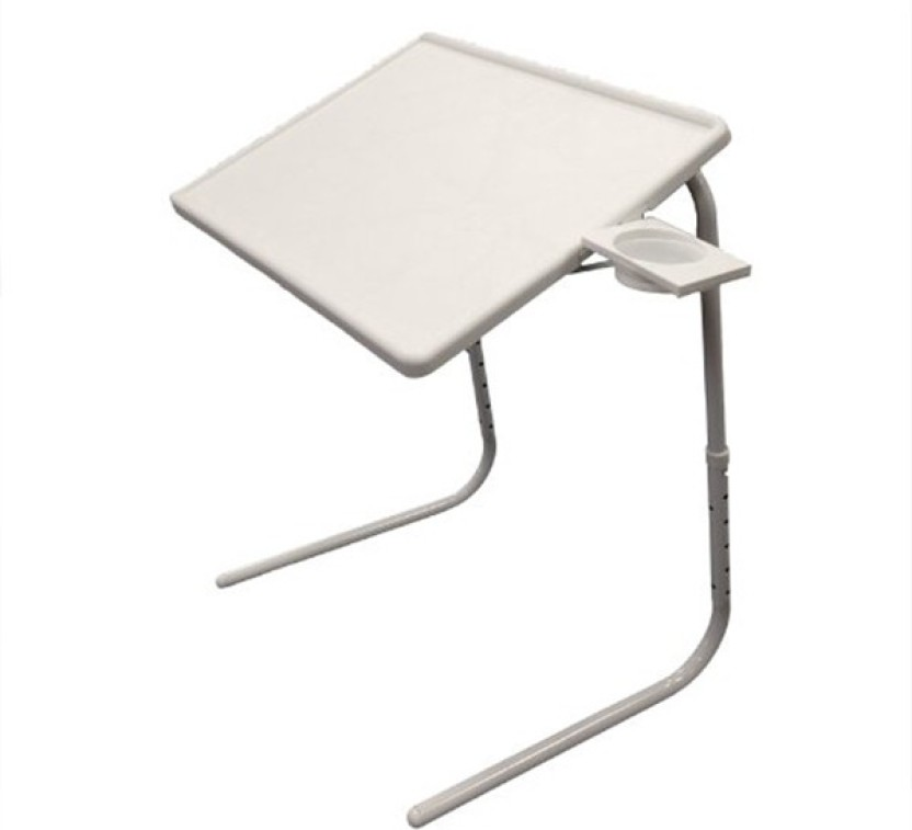 Table Mate White Adjustable Folding Laptop Plastic Study Table