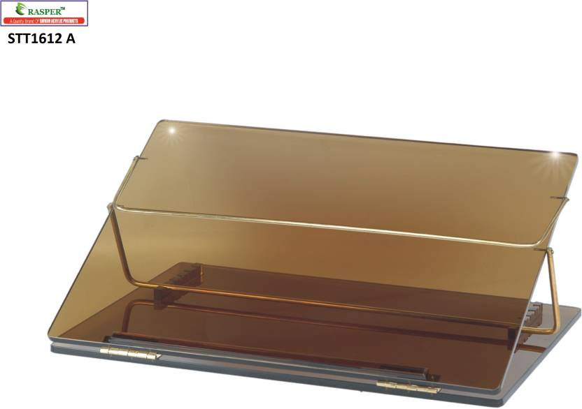 Rasper Acrylic Table Top Elevator Writing Desk Small Size 16x12 Inches With Adjustable Height Plastic Portable Laptop Table