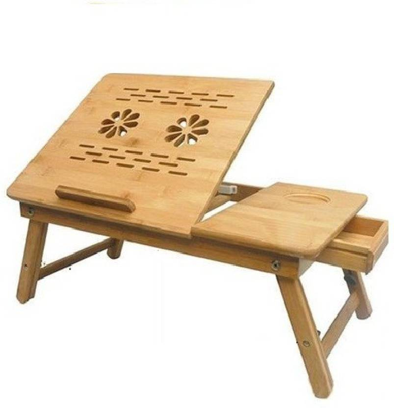Table Mate II Wooden Adjustable Study Working Computer Bedmate Designer Folding Home Office Mate Engineered Wood Portable Laptop Table available at Flipkart for Rs.990