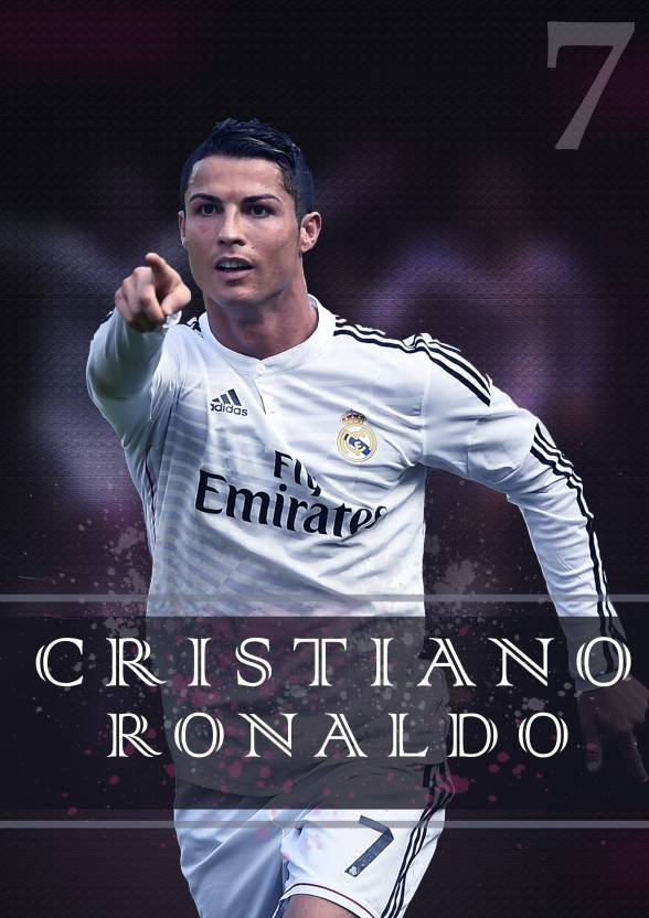 Cristiano ronaldo poster paper print sports pop art for Cristiano ronaldo wall mural
