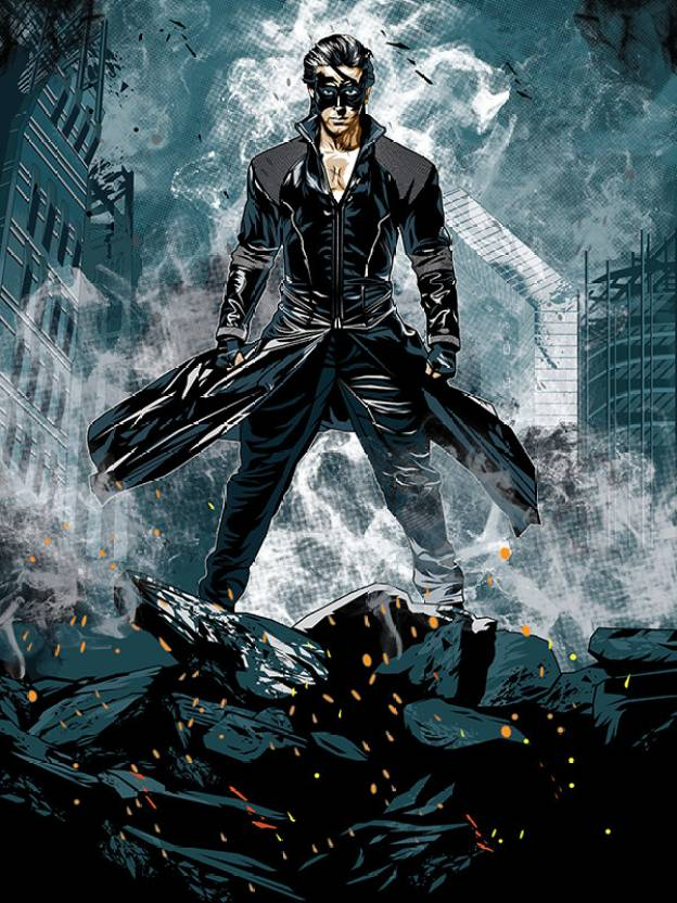 krrish 3 licensed the super hero poster by bluegape paper print