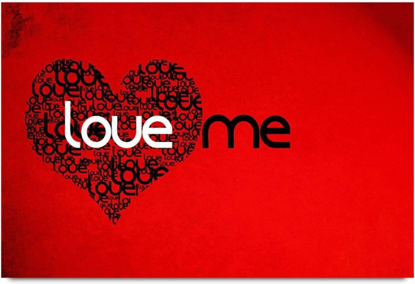Happy Valentines Day Love Me Paper Print Decorative Posters In