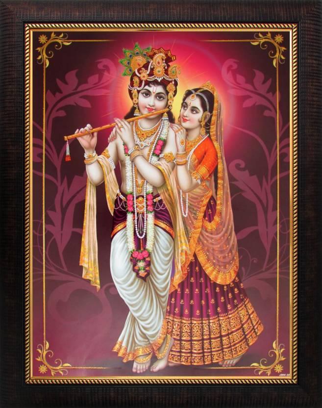 Lord Krishna / Radha Krishna Poster Paper Print - Art