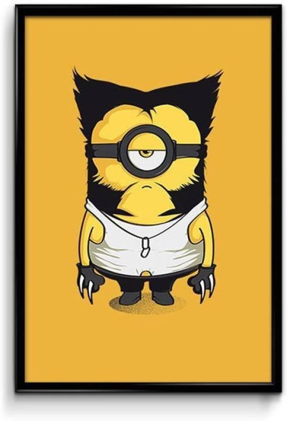 Minion Wolverine Canvas Art Movies Animation Cartoons Comics