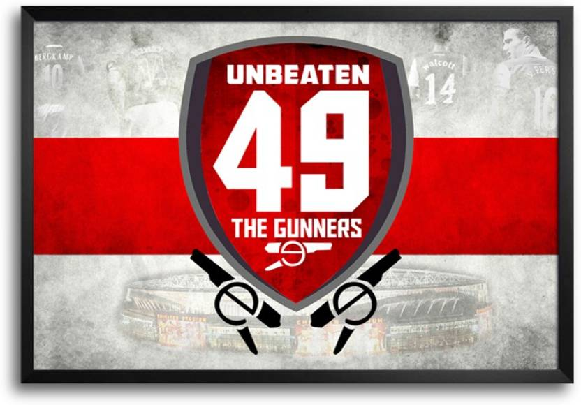 ShopMantra Arsenal The Gunners Unbeaten 49 Laminated Frame Poster Paper  Print (12 inch X 18 inch) e96e88bf16