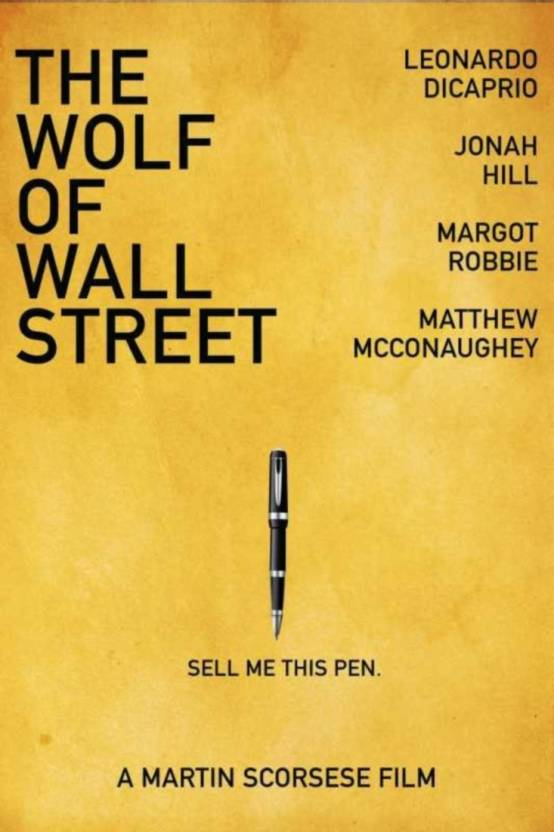 Athah Poster The Wolf Of Wall Street Sell Me This Pen Artwork Artist ...