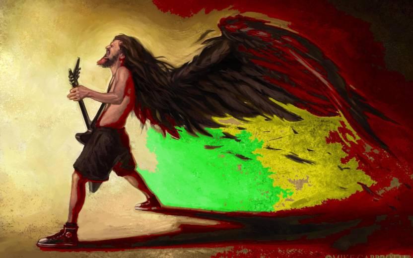 Music Dimebag Darrell Musicians Rasta Bob Marley Reggae HD Wallpaper Background Fine Art Print