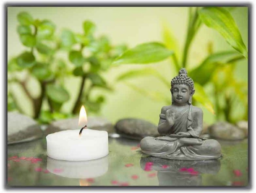 Poster Zen Relaxation Mains Bouddha Art