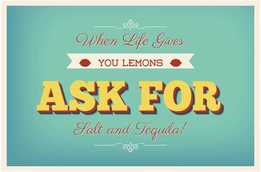 Inephos When Life Gives You Lemons Poster Paper Print Quotes
