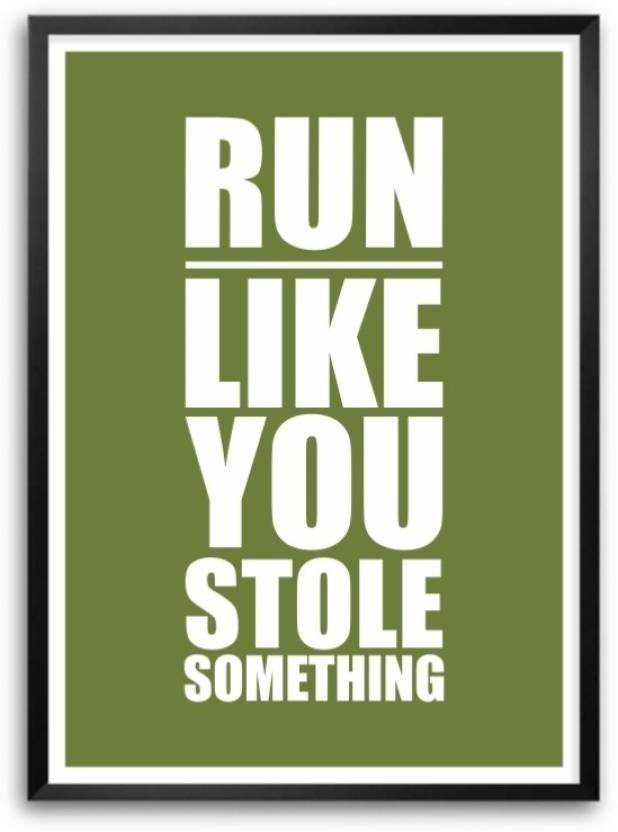 Gym Inspirational Quotes | Jogging Exercise In Gym Inspirational Quotes Poster For Gym Wall