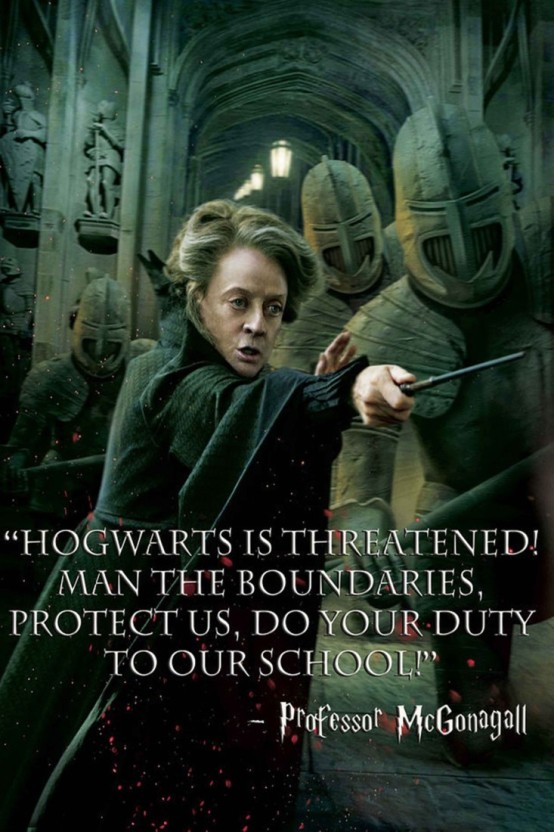 athah comic poster professor mcgonagall harry potter deathly