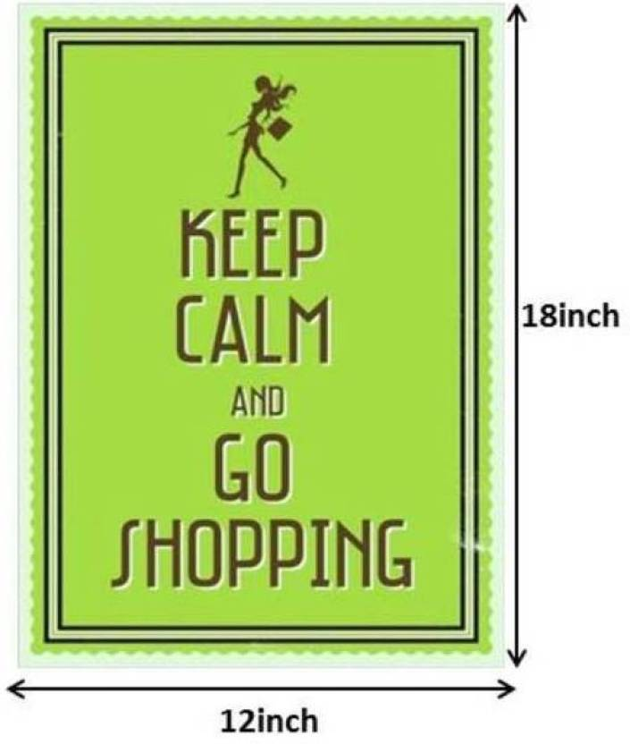 Seven Rays Keep Calm And Go Shopping Paper Print Small